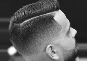 Comb Over Fade Haircut For Men
